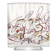 Abstract Drawing Fifteen Shower Curtain