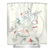 Abstract Drawing Fifty-five Shower Curtain
