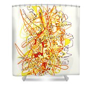 Abstract Drawing Fifty-three Shower Curtain