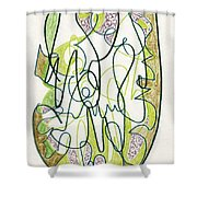 Abstract Drawing Forty-four Shower Curtain
