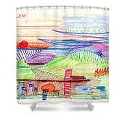 Abstract Drawing Four Shower Curtain