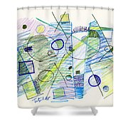 Abstract Drawing Seven Shower Curtain