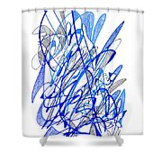 Abstract Drawing Seventy Shower Curtain