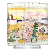 Abstract Drawing Six Shower Curtain