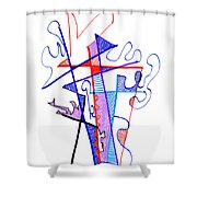 Abstract Drawing Sixty-nine Shower Curtain
