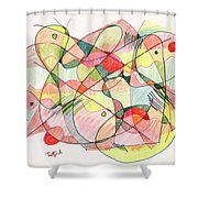 Abstract Drawing Twenty Shower Curtain