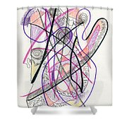 Abstract Drawing Twenty-six Shower Curtain