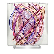 Abstract Drawing Twenty-two Shower Curtain