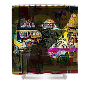 now You raised my head above my surrounding enemies 7b f Shower Curtain