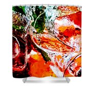 Abstract Drink Shower Curtain