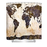 Abstract Earth Map Shower Curtain