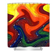 Abstract Eight Of Twenty One Shower Curtain