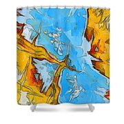 Abstract Elements  Shower Curtain