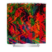 Abstract - Emotion - Rage Shower Curtain