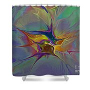 Abstract Explosion Shower Curtain