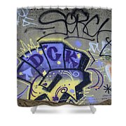 Abstract Expression Shower Curtain