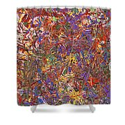 Abstract - Fabric Paint - String Theory Shower Curtain by Mike Savad