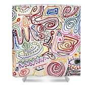 Abstract - Fabric Paint - Urban Society Shower Curtain by Mike Savad