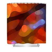 Abstract Fall Light Shower Curtain by Amy Vangsgard