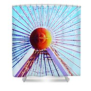 Abstract Ferris Wheel Shower Curtain