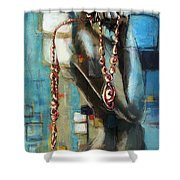 Abstract Figure Work Shower Curtain by Catf