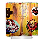 Abstract Flash  Shower Curtain