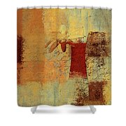 Abstract Floral - 14v4i-t2b2 Shower Curtain