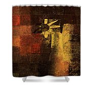 Abstract Floral - A8v46bt2a Shower Curtain