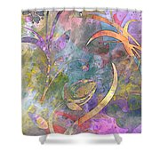 Abstract Floral Designe - Panel 1 Shower Curtain