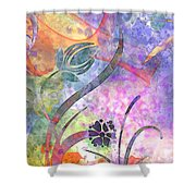 Abstract Floral Designe - Panel 2 Shower Curtain