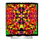 Abstract Floral Duvet Shower Curtain
