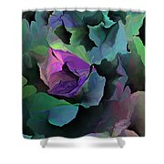 Abstract Floral Expression 041213 Shower Curtain