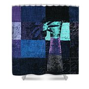 Abstract Floral - H15bt3 Shower Curtain
