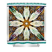 Abstract Flower Triptych Shower Curtain