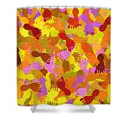 Abstract Footprints Shower Curtain