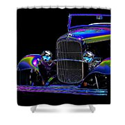 Abstract Ford - Classic Hotrods Shower Curtain