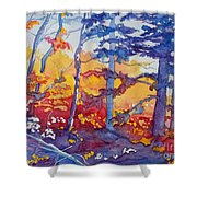 Abstract Forest No. 1 Shower Curtain
