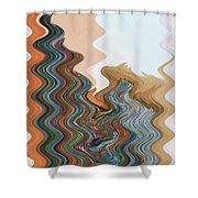 Abstract  Four Of Twenty One Shower Curtain