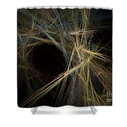 Abstract Fractal Background 01 Shower Curtain