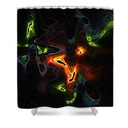 Abstract Fractals Shower Curtain