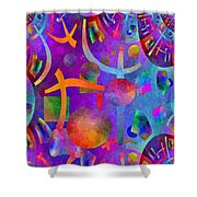 Abstract Fractillious - Episode One  Southwestern Shower Curtain