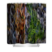 Abstract From The Sea Shower Curtain