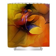 Abstract From Within Shower Curtain