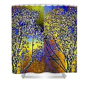 Abstract Fusion 100 Shower Curtain