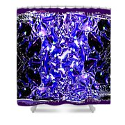 Abstract Fusion 117 Shower Curtain