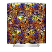 Abstract Fusion 142  Shower Curtain