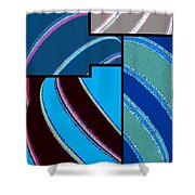 Abstract Fusion 143 Shower Curtain