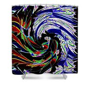 Abstract Fusion 161   Shower Curtain