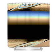 Abstract Fusion 163 Shower Curtain