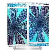 Abstract Fusion 170 Shower Curtain